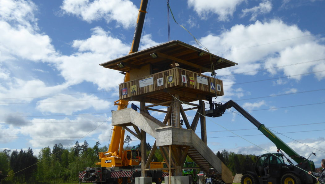 Der Turnfest-Tower steht